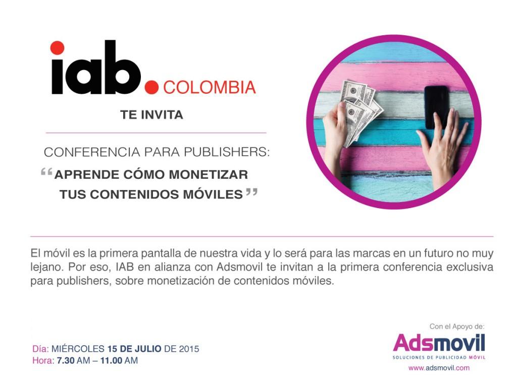 IAB PUBLISHERS MONETIZACION CONTENIDOS IAB ADSMOVIL MOBILE MOVIL